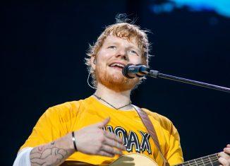 Ed Sheeran durante show no Allianz Parque, em São Paulo — Foto: Celso Tavares/G1