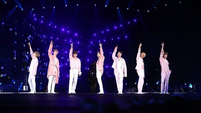 BTS faz show no Allianz Parque, em São Paulo, no domingo (25) — Foto: BigHit Entertainment Bts/Divulgação