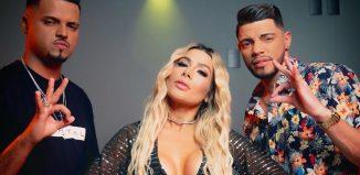 Camila Braga com Thiaguinho MT e JS O Mão de Ouro — Foto: Reprodução/Instagram