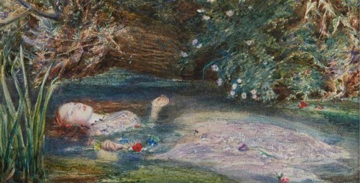 Siddal tornou-se famosa por estampar obras como a melancólica 'Ophelia' (1851-2), de John Everett Millais — Foto: Coleção Privada via BBC