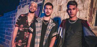 Da esquerda: DJ JS O Mão de Ouro, Pedro Sampaio e Felipe Original, de 'Sentadão' — Foto: Divulgação
