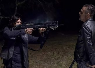 Norman Reedus e Jeffrey Dean Morgan em cena de 'The walking dead' — Foto: Divulgação