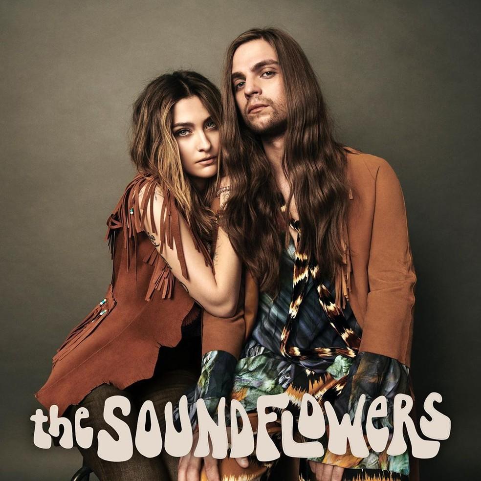 Paris Jackson lança EP em parceria com o namorado, Gabriel Glenn, com quem forma o duo The Soundflowers — Foto: Reprodução/Instagram