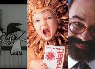 Propagandas dos cobertores Parahyba, da Parmalat e da poupança Bamerindus tiveram jingles marcantes — Foto: Reprodução