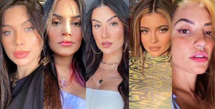 Flávia Pavanelli, Flayslane, Bianca Andrade Kylie Jenner e Gabi Prado — Foto: Reprodução/Instagram