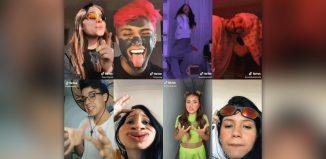 Fãs fazem vídeos com desafios de dança e maquiagem ao som da música viral 'Na raba toma tapão' — Foto: Reprodução / Tik Tok