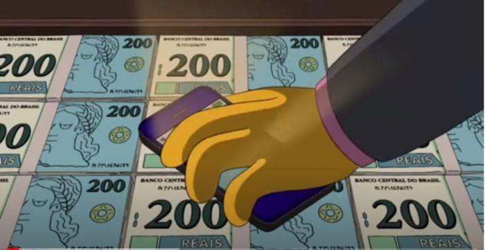 Simpsons 'previu' nota de R$ 200 em episódio de 2014 — Foto: Reprodução/YouTube