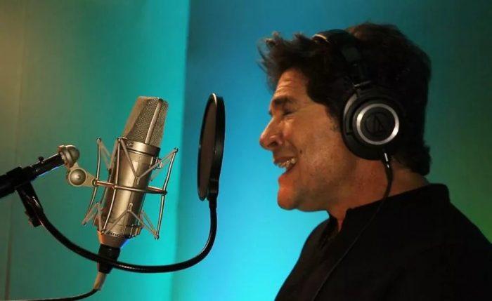 Daniel em estúdio de Los Angeles na gravação da música 'Eu não te amo' — Foto: Divulgação