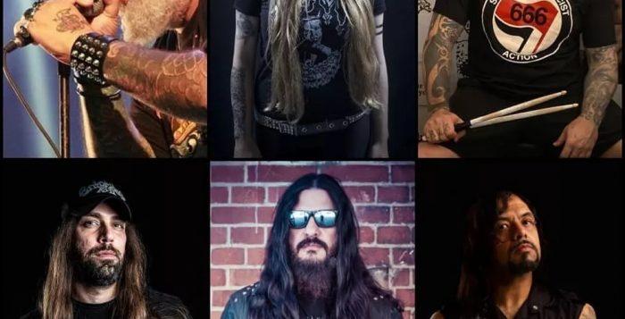 Ícones do cenário do metal brasileiro se uniram para formar a superbanda Revolta. — Foto: Reprodução/Instagram