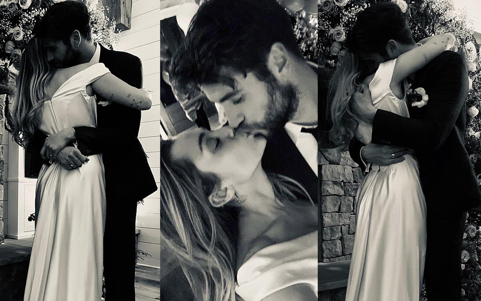 Miley Cyrus posta fotos de seu casamento com Liam Hemsworth | Capital 95